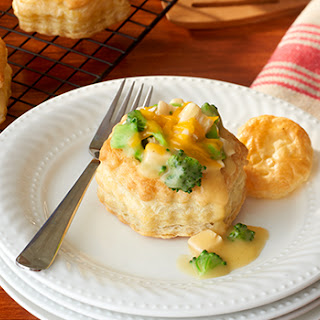 Cheddary Chicken & Broccoli in Pastry.