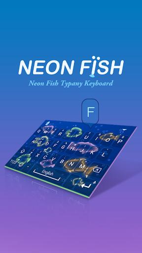 mod Neon Fish Theme&Emoji Keyboard 4.5 screenshots 1