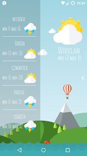 Material Weather for KLWP - náhled