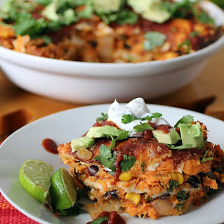 Sweet Potato Enchilada Casserole