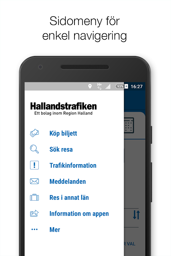 Hallandstrafiken- screenshot