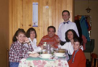 Photo: 31 dicembre 1987. Cenone di fine anno a Tremalzo con amici