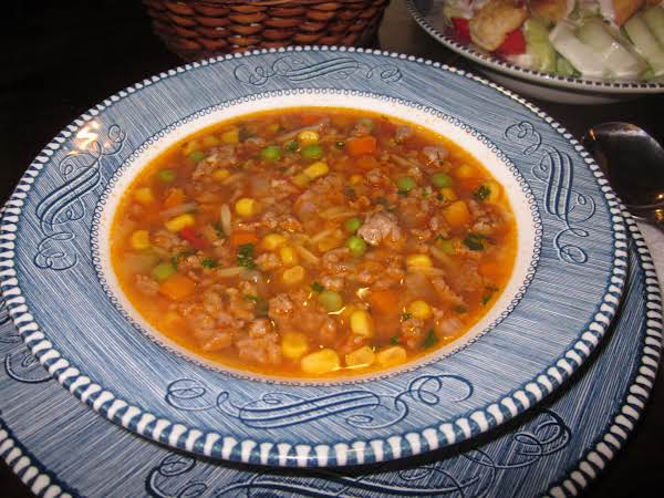 Ground Beef & Orzo Soup Recipe