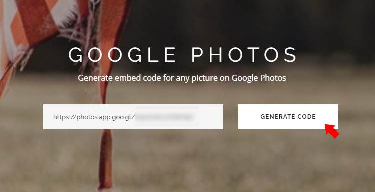 generate-code-from-GooglePhoto