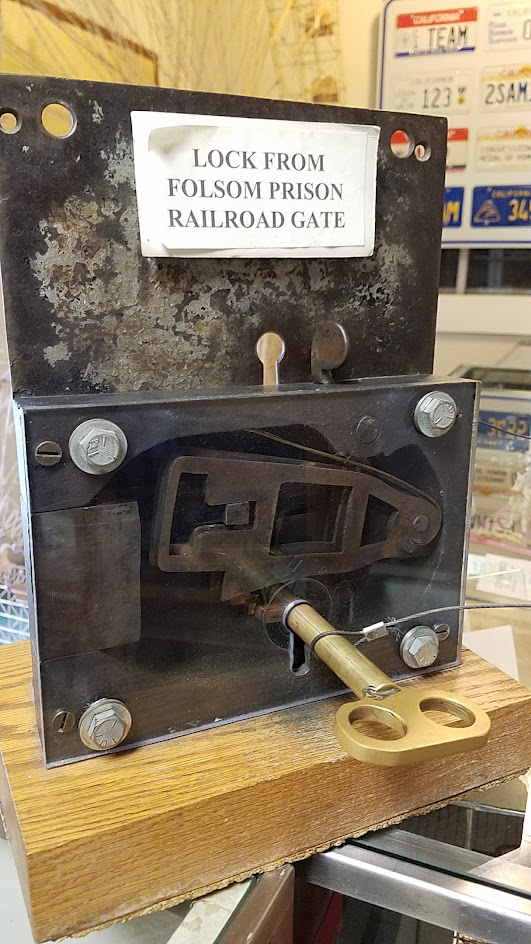 Lock from a Folsom Prison Railroad Gate - on display when visiting Folsom Prison Museum.