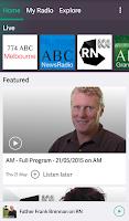 Screenshot of ABC Radio