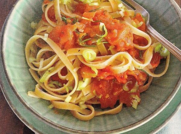 La Ninfea's Fettucini With Roasted Tomatoes Recipe