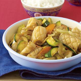 Squid and Vegetable Stir-Fry.