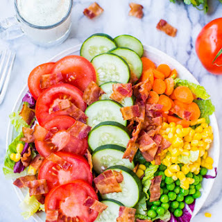 BLT Chopped Salad with Homemade Creamy Buttermilk Ranch Dressing