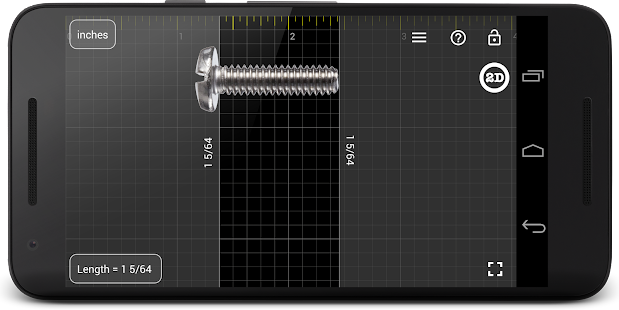 Millimeter Pro - ruler and protractor on screen- screenshot thumbnail