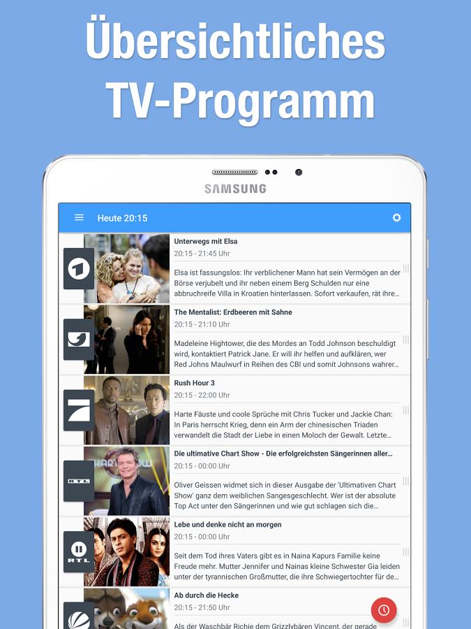 Fernsehen über App