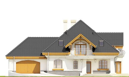 Dzierlatka III styl z garażem 2-st. A - Elewacja przednia