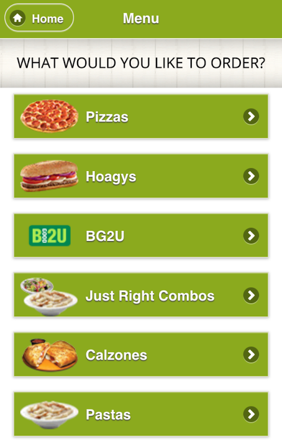LaRosa's Pizzeria Ordering App- screenshot