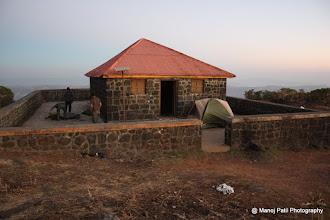 Photo: Mengai Devi Mandir on Torana .... around 20 people can stay here...
