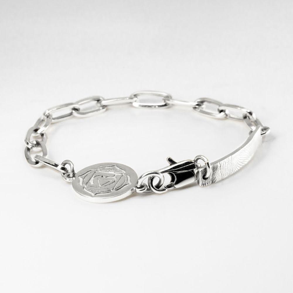 Cornelia Webb, silverpläterat chakra armband