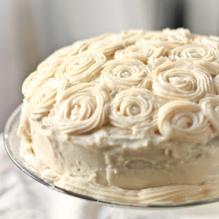 Taro Cake with Cream Cheese Frosting.