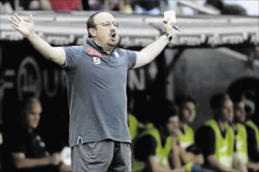 UNDER NO ILLUSIONS: Napoli coach Rafael Benitez  is bracing himself  for a tough Uefa Champions League playoff tie against               Spain's Athletic Bilbao tonight        Photo: Getty Images