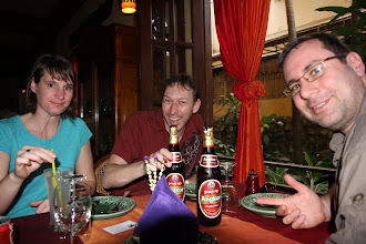 Photo: Our first (of many) Angkor beer