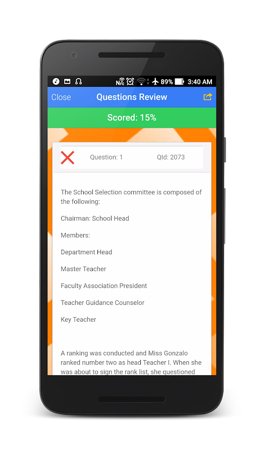 Principals' Test Reviewer- screenshot