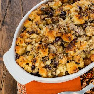 Cornbread Stuffing with Sausage and Dried Fruit