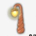 ねじり木のランプ