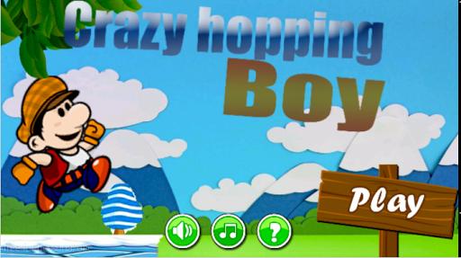 Crazy hopping boy