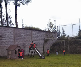 Photo: Day 7: These are the kids playing on their playground during recess.