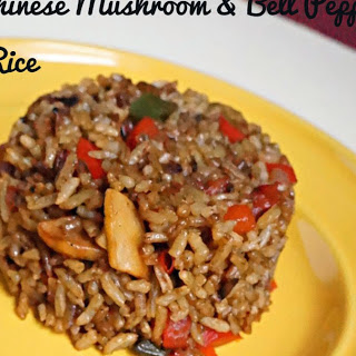 Bell Pepper Mushroom Fried Rice.