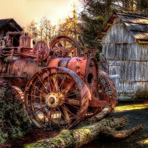 Logging Tractor Old Shed.jpg