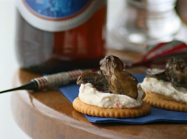 Cream Cheese 'n Chive Smoked Oysters Recipe