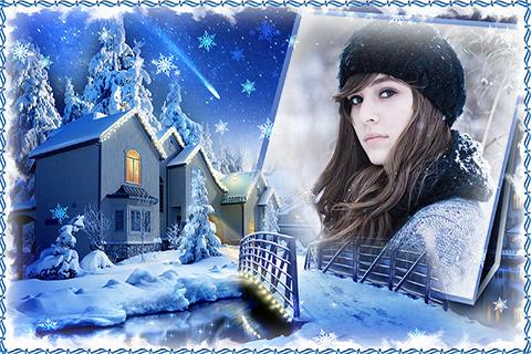 Winter Romance Photo Frames