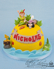 Photo: Jake and the Neverland Pirates Peter Pan and Captain Hook Cake by Little Cherry Cake Company (T-Cakes) (9/10/2012) View cake details here: http://cakesdecor.com/cakes/28352