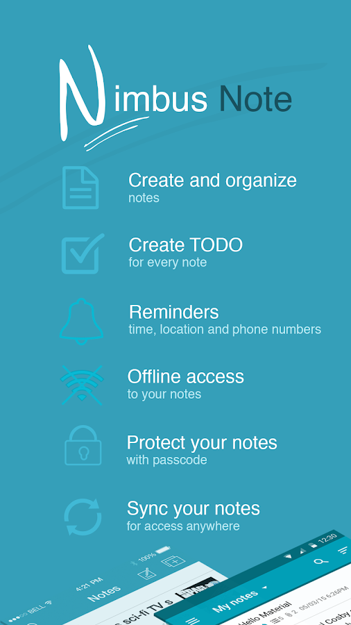 Nimbus Note - Useful notepad- screenshot