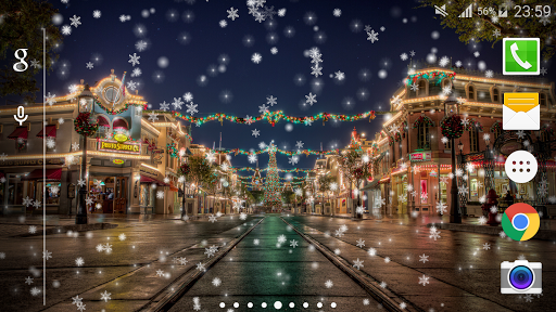 Snow Night Live Wallpaper PRO 1.1.7 screenshots 2