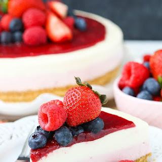No Bake Berry Vanilla Cheesecake.