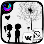 Black & White Launcher Theme 1.1 (AdFree)