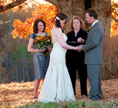 Photo: Ceremony in progress - GreenbrierFarms.com - Easley, SC  10/10 - http://WeddingWoman.net - Photo courtesy Kelli Boling - RedKPhotography
