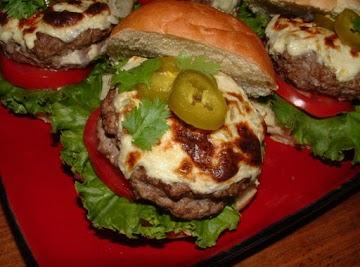 Stuffed Jalapeno Popper Burgers Recipe