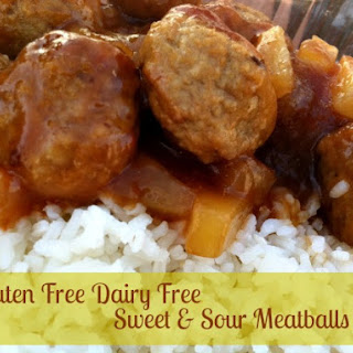 Gluten Free Dairy Free Sweet and Sour Meatballs.