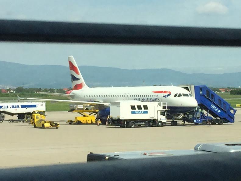 ザグレブ Britisy Airways A320