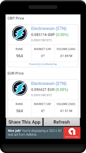 Electroneum Coin Price In Any Currency, ETN Price - náhled
