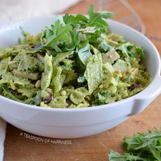 Smoked Turkey Pesto Pasta Salad.