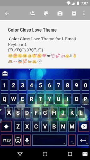 Color Glass Love EmojiKeyboard