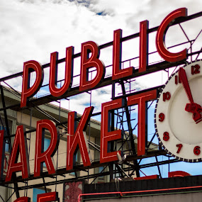 Public Market Center Seattle by Eric Wellman - City,  Street & Park  Markets & Shops ( market, seattle )