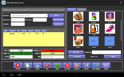 StarCode Network Plus POS and Inventory Manager - náhled