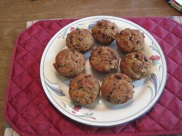 Chocolate Chip Zucchini Coconut Muffins Recipe