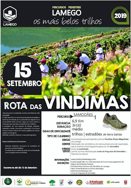 Programa – Rota das Vindimas – Lamego – 15 de setembro de 2019