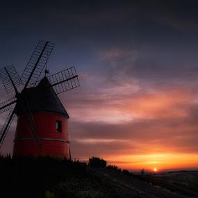 Moulin Rouge by Paul Atcliffe - Landscapes Sunsets & Sunrises