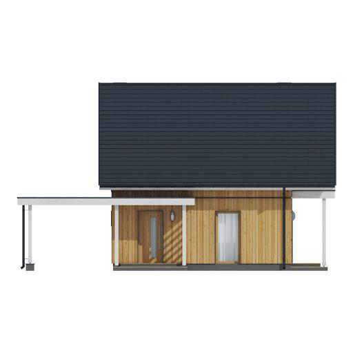 D157 - wersja drewniana - Elewacja przednia