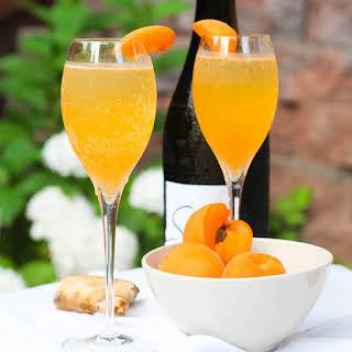 Apricot Ginger Bellini.